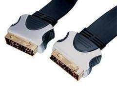 HQ Scart Cable M/M Flat Cable
