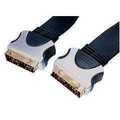 HQ Scart Cable M/M Flat