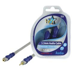 HQ 3.5mm Mini Jack Stereo M/F Cable 1.5M