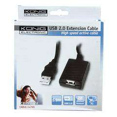 Konig Active USB 2.0 A/A Extension Cable 5m