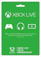 Xbox One/360 12 Month Gold Digital Subscription Code