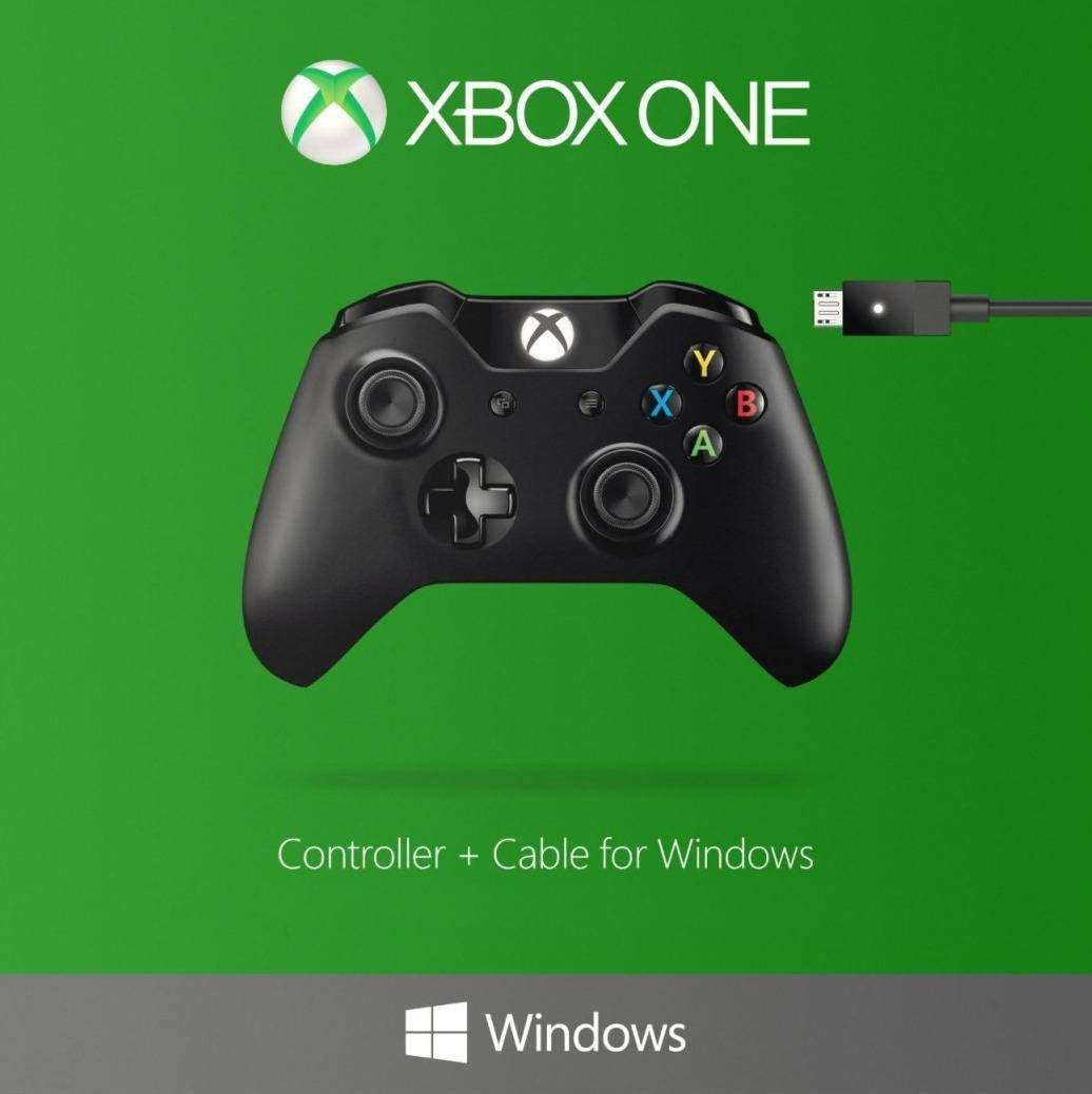 Microsoft XBox One Wired/Wirelless Controller & Cable for Windows ...