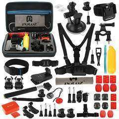 Pulus 53 in 1 Accessories Combo Kit with EVA Case for GoPro