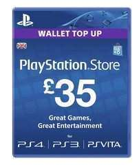 Sony PSN PlayStation Network Live Card £35 GBP