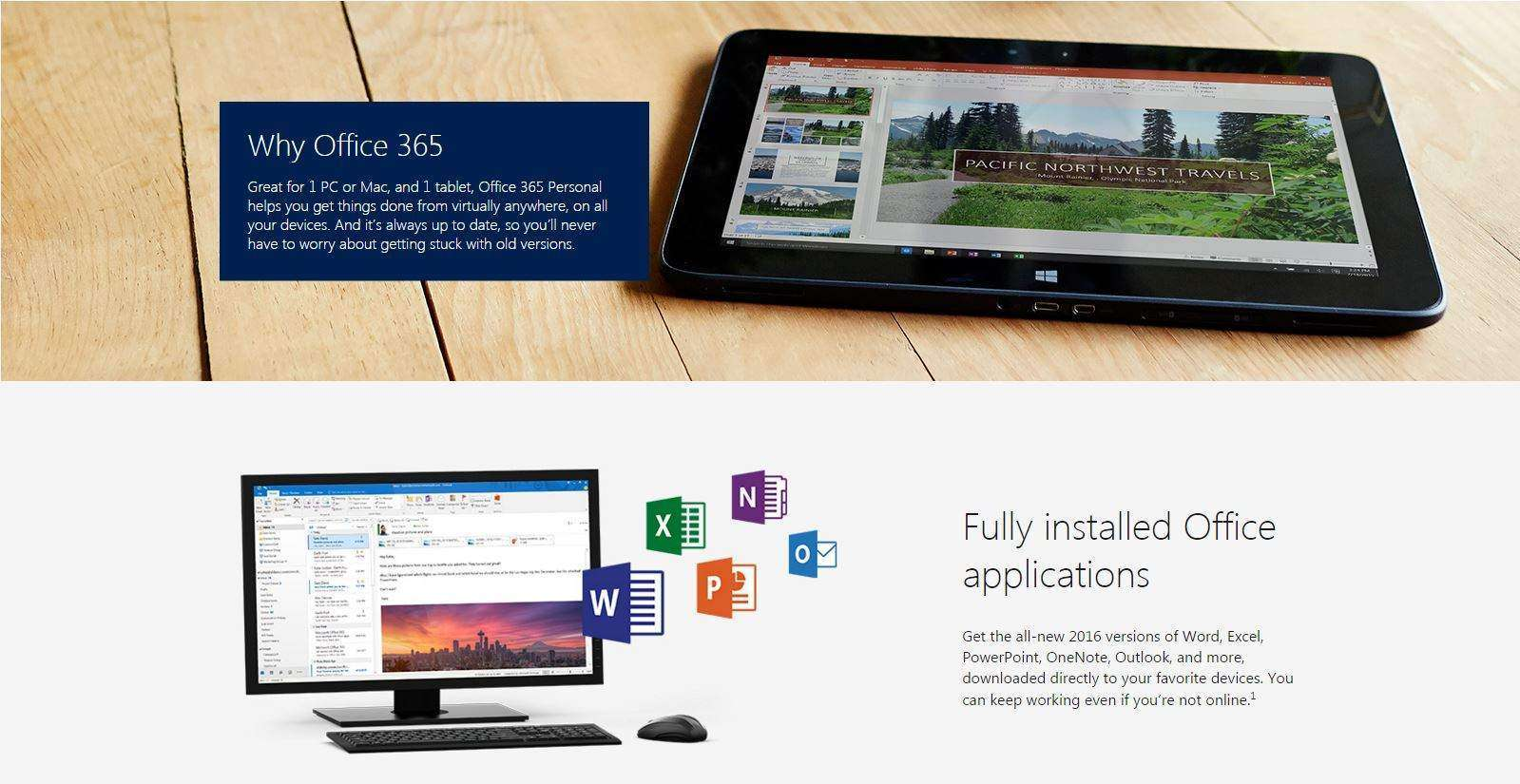 Microsoft Office 365 - Fully installed Office applications