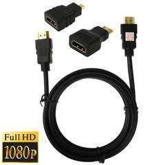 HDMI Cable M/M 1.5m + Mini/Micro HDMI Adaptor