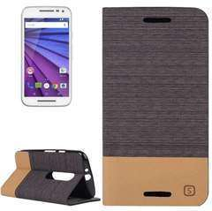 Canvas Horizontal Flip Leather Case with Card Slot & Holder for Motorola Moto G(3rd Gen.)