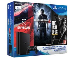 Sony Playstation 4 Slim 1TB & Uncharted 4/Driveclub/Last of us