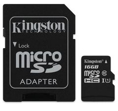 Kingston 16GB microSDHC/microSDXC Class 10 UHS-I Card