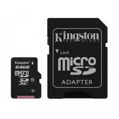 Kingston 64GB MicroSDHC Memory Card