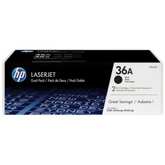HP Toner 36A Double Pack