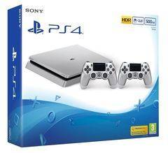 Sony Playstation 4 Slim PS4 500GB Silver Limited Edition with 2 Controllers