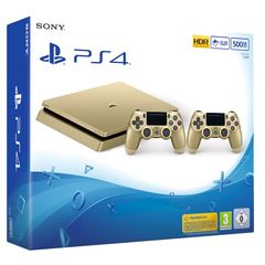 Sony Playstation 4 Slim PS4 500GB Gold Limited Edition with 2 Controllers
