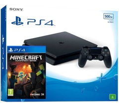 Sony Playstation 4 Slim PS4 500GB + Game Minecraft with 1 Controller