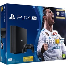 Game Console Sony Playstation 4 PS4 PRO 1TB With 1 Control + Game Fifa 18