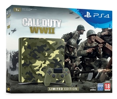 Sony Playstation 4 PS4 1TB CAMO LTD Edition 1 Control + Call of Duty WWIIGame Console S