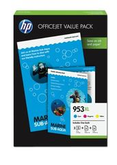 HP 953XL Value Pack 3 Colour Cyan/Magenta/Yellow