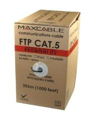 Maxcable Outdoor FTP Cat5e 4 pair Solid Cable 24AWG UV (CCA)