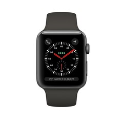 Apple Watch Series 3 GPS 42mm Space Gray Aluminum Case with Grey Sport Band