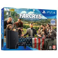 Sony Playstation 4 Slim PS4 1TB with Game Far Cry 5