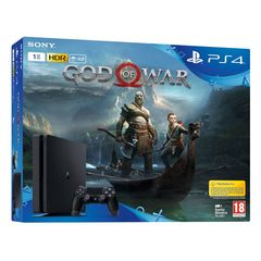 Sony Playstation 4 Slim PS4 1TB with 1 Extra Controller + Game God Of War