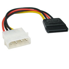 Molex Male to Sata 15 Pin Adaptor