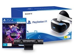 Sony Playstation VR + PS4 V2 Camera + Game VR Worlds + Game GT Sport