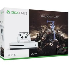 Game Console Xbox One S 1TB + Shadow of War