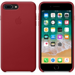 iPhone 8/7 Plus Leather Case Cover Red