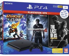 Sony Playstation 4 PS4 1TB Hits +Uncharted 4 +The Last of Us +Ratchet & Clank