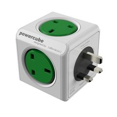 allocacoc PowerCube Original Green 5 Outlets
