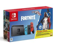 Nintendo Switch With Game Fortnite with Neon Blue and Neon Red Joy‑Con